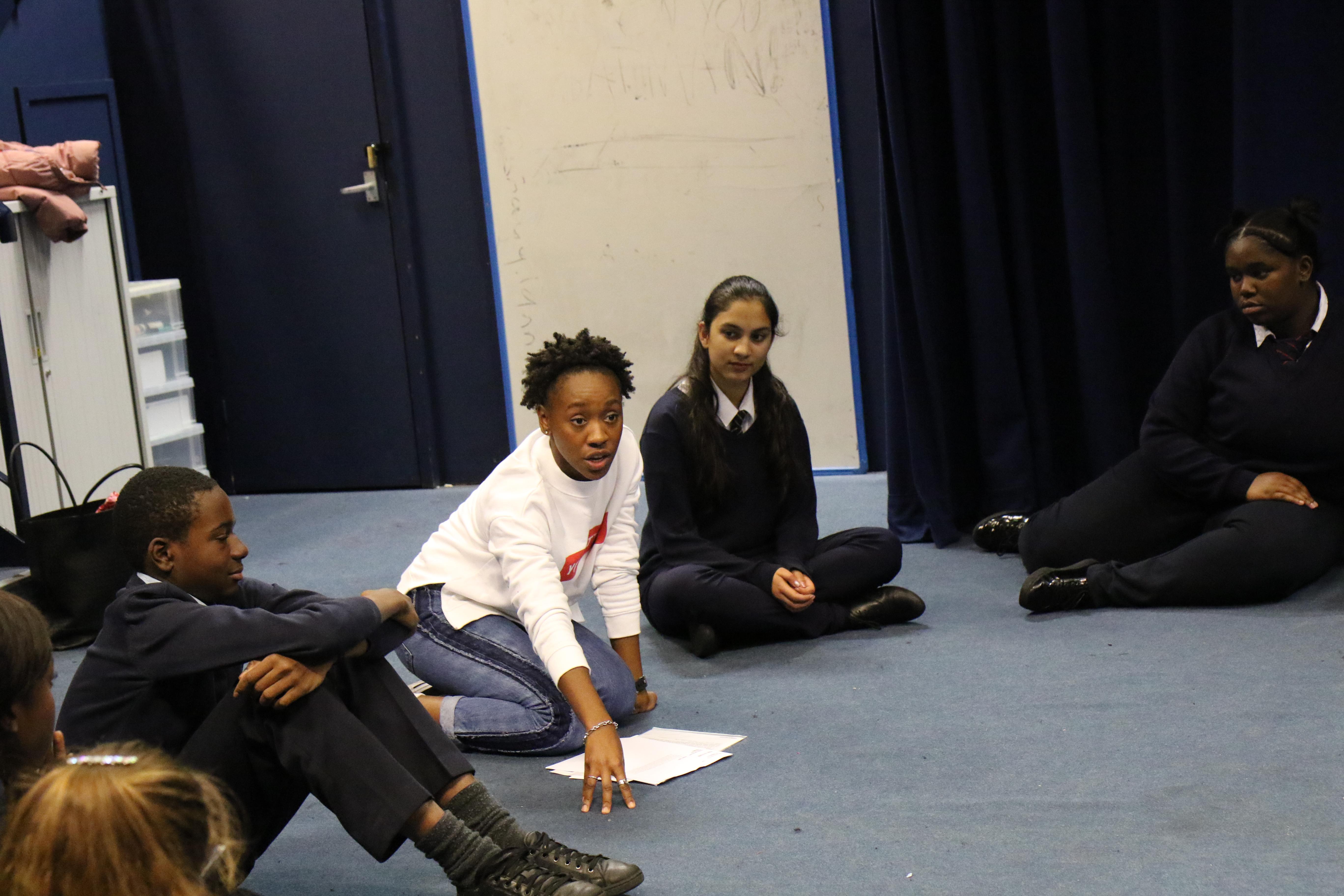 Secondary School drama class